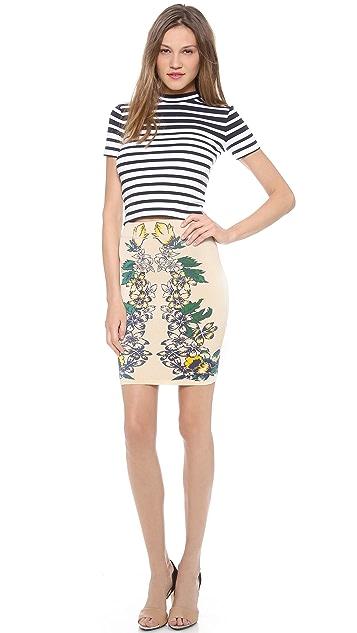 BCBGMAXAZRIA Caimbrie Printed Skirt