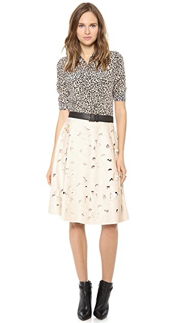BCBGMAXAZRIA Elsa Faux Leather Skirt