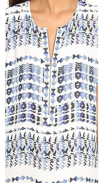BCBGMAXAZRIA Renae Cape Back Zip Dress