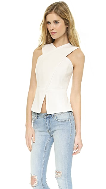 BCBGMAXAZRIA Cross Strap Top