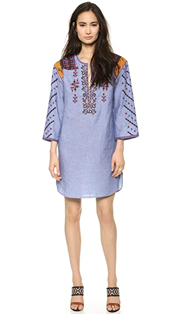 BCBGMAXAZRIA Embroidered Dress
