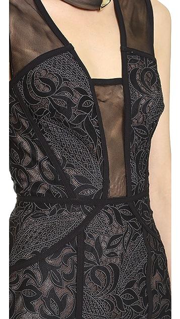 BCBGMAXAZRIA Lyla Open Back Dress