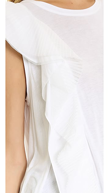 BCBGMAXAZRIA Mandana Ruffle Sleeve Blouse
