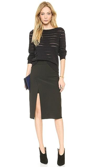 BCBGMAXAZRIA Grayce Slit Skirt