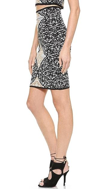 BCBGMAXAZRIA Battenburg Skirt