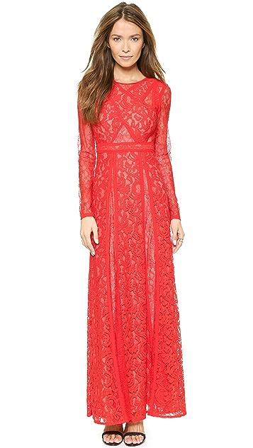 c7a0f13ee3e BCBGMAXAZRIA Kalie Lace Maxi Dress