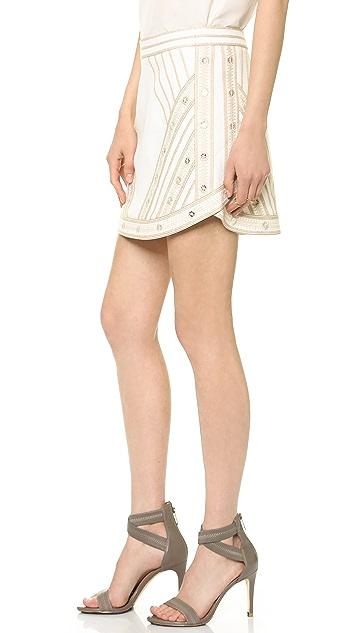BCBGMAXAZRIA Embroidered Miniskirt