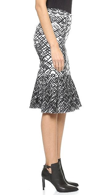 BCBGMAXAZRIA Bethani Jacquard Peplum Skirt