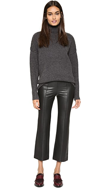 BCBGMAXAZRIA Faux Leather Cropped Pants