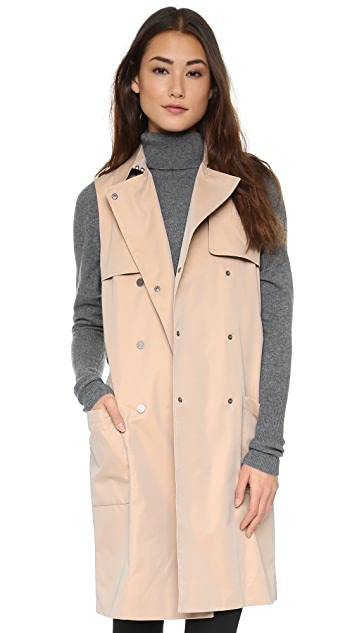 BCBGMAXAZRIA Lenard Sleeveless Trench