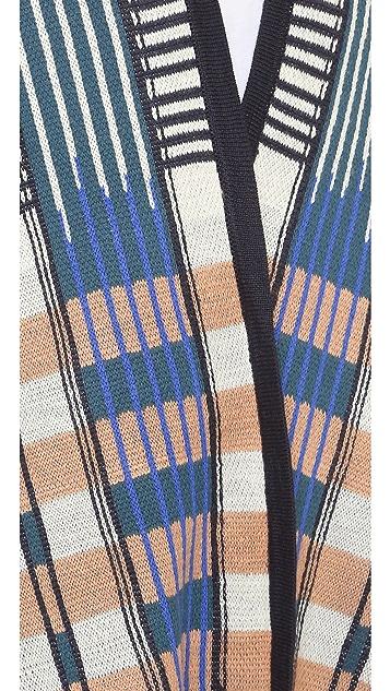 BCBGMAXAZRIA Jacquard Panel Cardigan