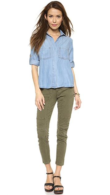 Bella Dahl Split Back Button Down Shirt