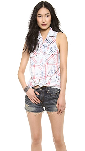 Bella Dahl Sleeveless Western Shirt