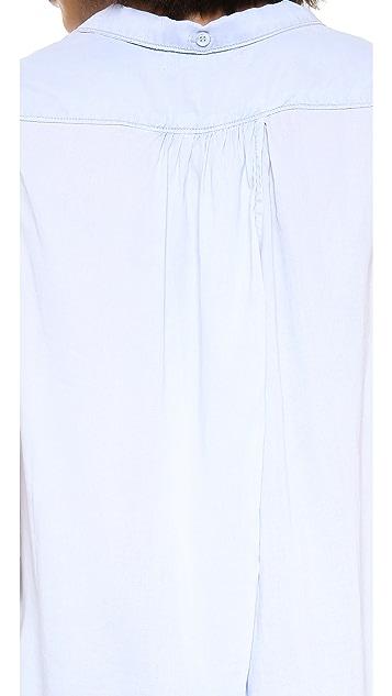 Bella Dahl Sleeveless Tulip Back Shirt