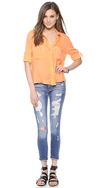 Bella Dahl Split Back Button Down Shirt