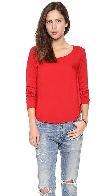 Bella Dahl Mixed Tulip Hem Shirt