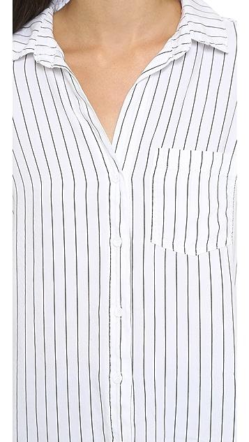 Bella Dahl Pocket Button Down Shirt