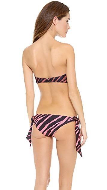 Beach Riot Eye of the Tiger Plunge Bikini Top