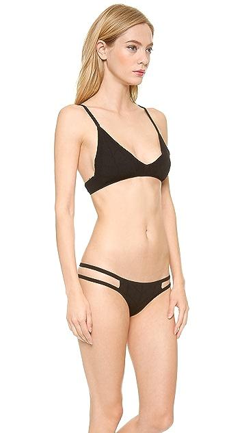 Beach Riot Stone Cold Fox Capri Bikini Top
