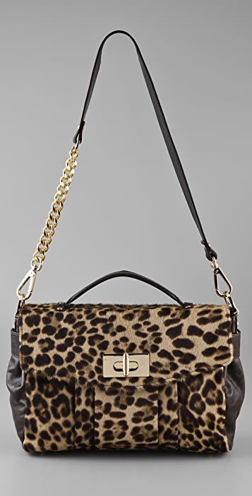 BE & D Maggie Haircalf Satchel
