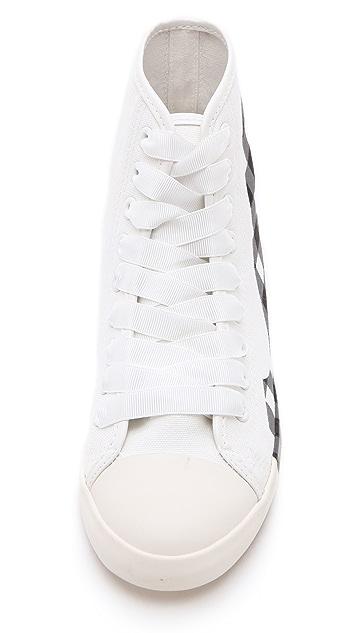 BE & D Brightlight Plaid High Top Sneakers