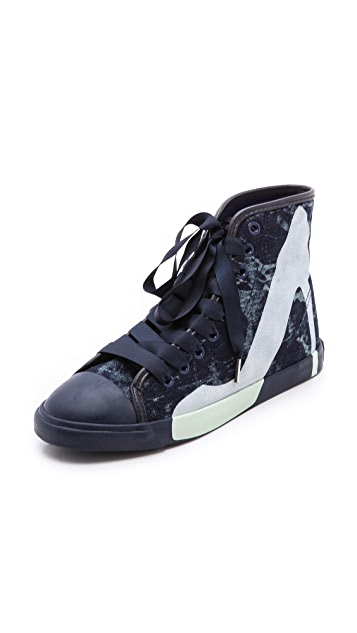 BE & D Maison Dumain Denim Sneakers