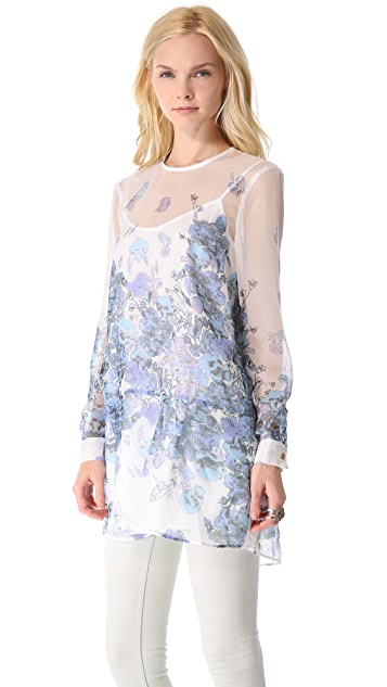 Bec & Bridge Falling Poppies Tunic