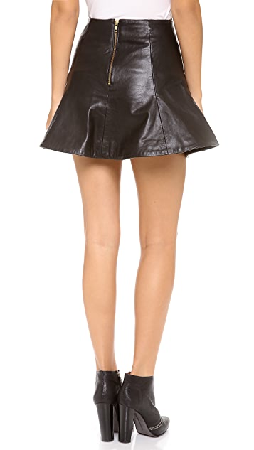 Bec & Bridge Haku Leather Skirt