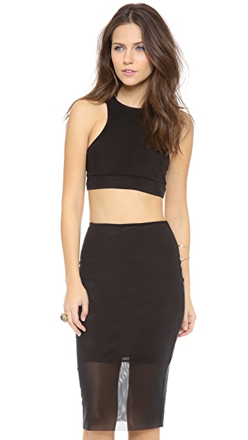 Bec & Bridge Kathy Mesh Crop Top