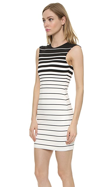 Bec & Bridge Reversible Stripe V Snake Charmer Dress