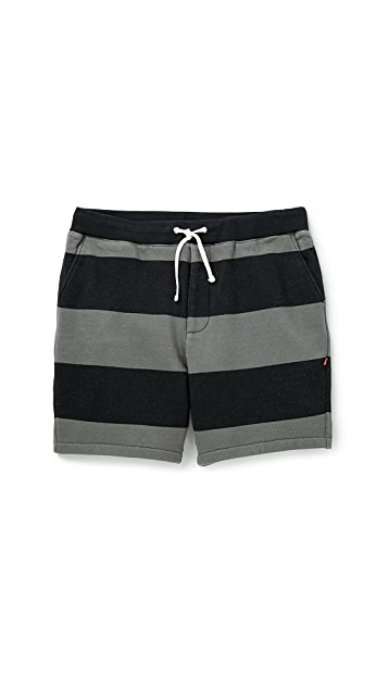 Bedwin and the Heartbreakers Marcy OG Border Sweat Shorts