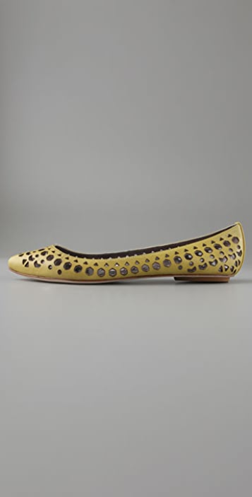 Belle by Sigerson Morrison Cutout Pointy Flats