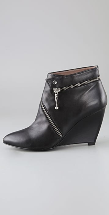 Belle by Sigerson Morrison Zip Around Wedge Booties