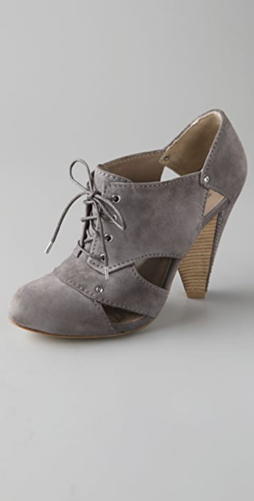 Belle by Sigerson Morrison Cutout Suede Booties