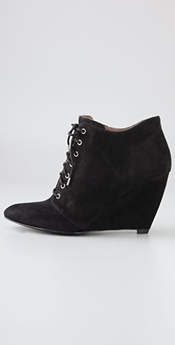 Belle by Sigerson Morrison Lace Up Suede Booties