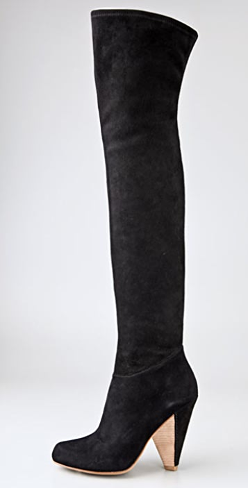 Belle by Sigerson Morrison Stretch Suede Over the Knee Boots