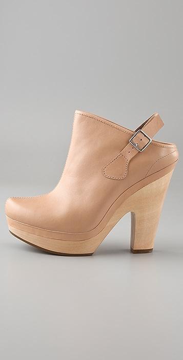 Belle by Sigerson Morrison High Heel Platform Clogs