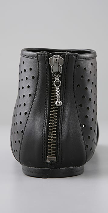 Belle by Sigerson Morrison Perforated Open Toe Booties