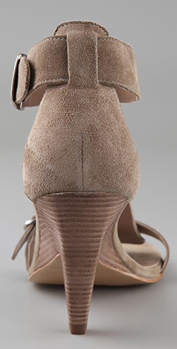 Belle by Sigerson Morrison Suede T Strap Sandals