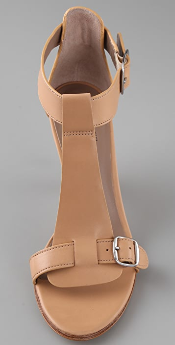 Belle by Sigerson Morrison Buckle T Strap Sandals