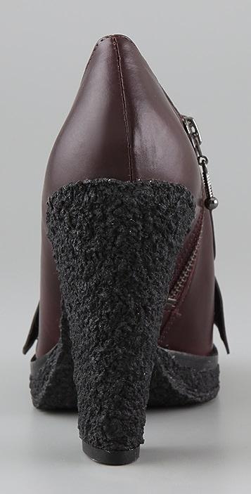 Belle by Sigerson Morrison Kilty Platform Booties on Crepe Heel
