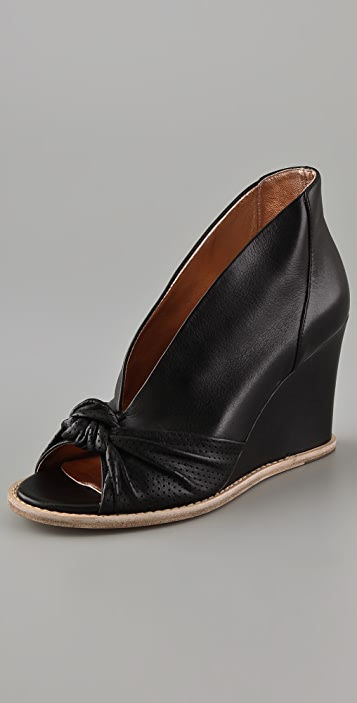 Belle by Sigerson Morrison Knotted Wedge Pumps