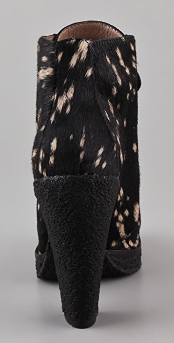 Belle by Sigerson Morrison Spotted Haircalf Combat Booties