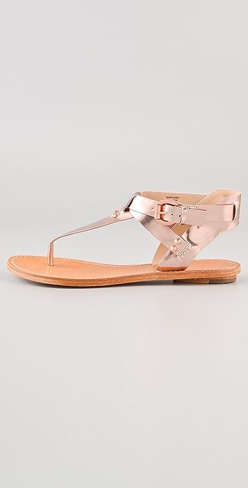 Belle by Sigerson Morrison Randy T Strap Flat Sandals