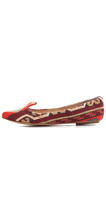 Belle by Sigerson Morrison Aztec Print Flats