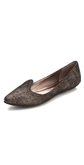 Belle by Sigerson Morrison Speckled Metallic Lip Flats