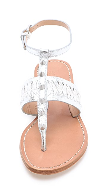Belle by Sigerson Morrison Rollie Studded Flat Sandals