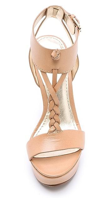 Belle by Sigerson Morrison Bela Braided T-Strap Sandals