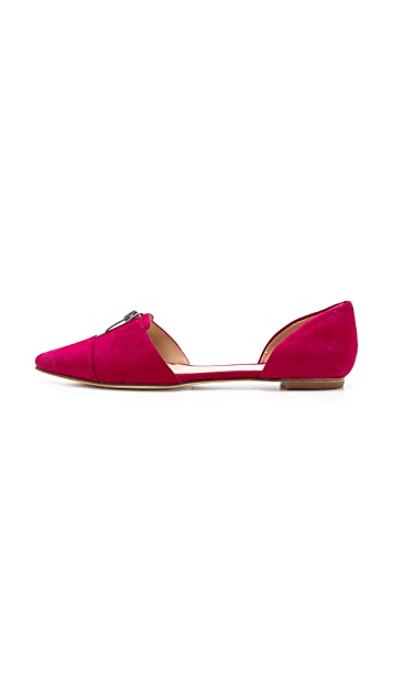 Belle by Sigerson Morrison Silvia Suede d'Orsay Flats