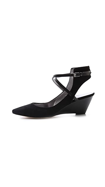 Belle by Sigerson Morrison Wallace Ankle Strap Wedges
